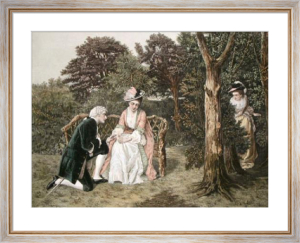 It's best with the First Love (Restrike Etching) by William Oliver