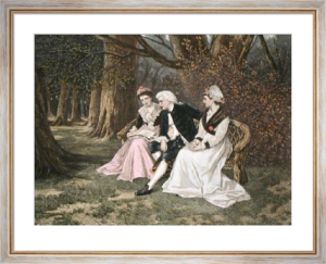 How Happy I Could be With Either (Restrike Etching) by William Oliver