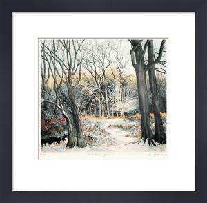 Winter Gold (Restrike Etching) by Jo Barry