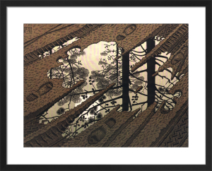 Puddle by M.C. Escher