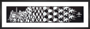 Metamorphosis I by M.C. Escher