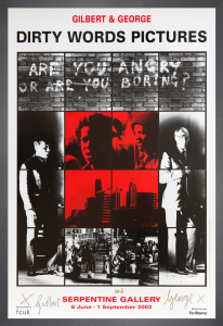 Are you angry or are you boring? 1977 (Signed) by Gilbert & George