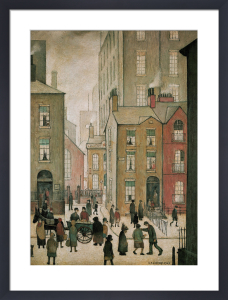 Hawkers Cart by L S Lowry
