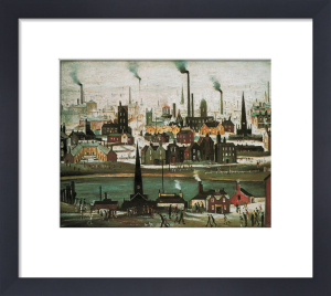 Industrial Landscape:The Canal by L S Lowry