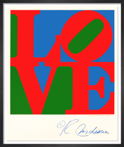 LOVE (Blue, Green, Red) by Robert Indiana