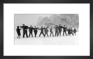 Children playing in snow, Tooting Bec 1962 by Mirrorpix