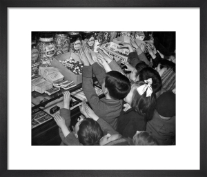 Sweet rationing ends, 1949 by Mirrorpix