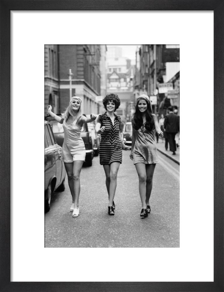 Fashion models, London 1969 by Mirrorpix