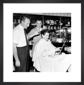 Barbers, Streatham 1960 by Mirrorpix