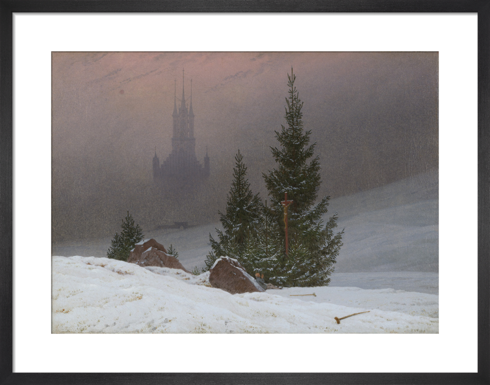 Winter Landscape Art Print By Caspar David Friedrich King Mcgaw