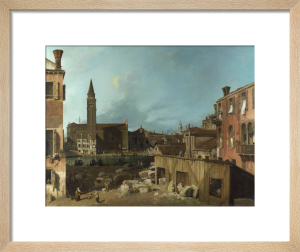 The Stonemason's Yard by Giovanni Canaletto