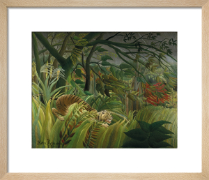 Tiger in a Tropical Storm Surprised by Henri Rousseau