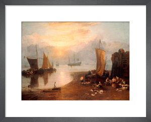 Sun Rising Through Vapour by Joseph Mallord William Turner