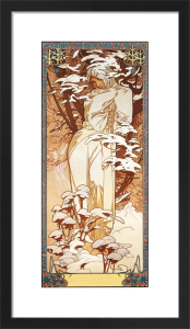 Hiver, 1900 by Alphonse Mucha