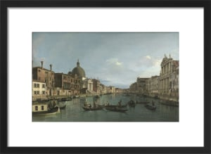 Venice: The Grand Canal with S. Simeone Piccolo by Giovanni Canaletto