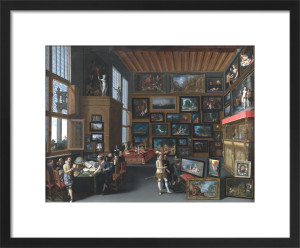 Cognoscenti in a Room hung with Pictures by Unknown artist