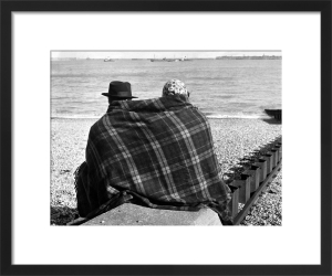 Chilly beach, Dover 1954 by Mirrorpix