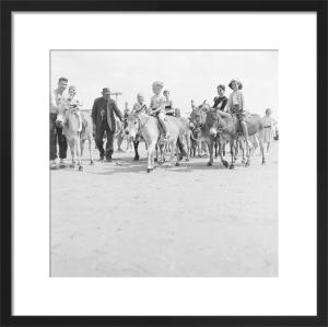 Donkeys on beach, Bognor 1959 by Mirrorpix
