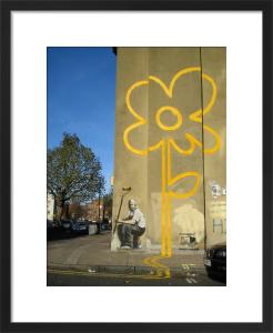 Double Yellow Flower by Street Art