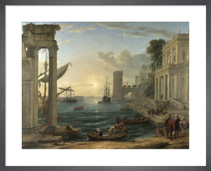 Seaport with the Embarkation of the Queen of Sheba by Claude