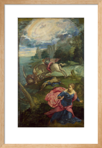 Saint George and the Dragon by Jacopo Tintoretto
