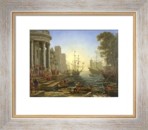 Seaport with the Embarkation of Saint Ursula by Claude