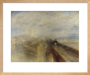 Rain, Steam, and Speed - The Great Western Railway by Joseph Mallord William Turner