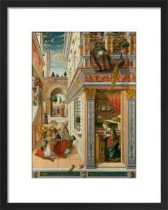 The Annunciation, with Saint Emidius by Carlo Crivelli