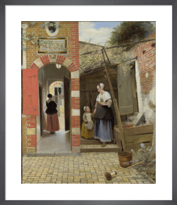 The Courtyard of a House in Delft by Pieter de Hooch