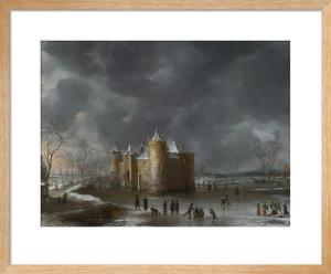 The Castle of Muiden in Winter by Jan Beerstraaten