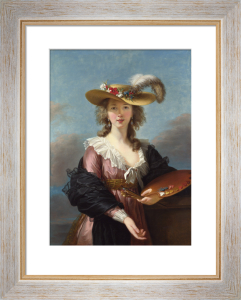Self Portrait in a Straw Hat by Louise Elisabeth Vigee Le Brun