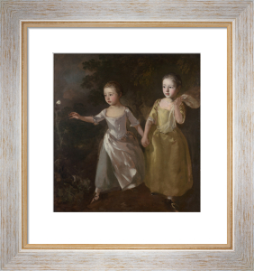 The Painter's Daughters chasing a Butterfly by Thomas Gainsborough