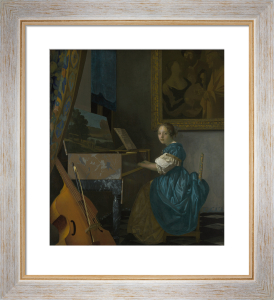 A Young Woman seated at a Virginal by Johannes Vermeer