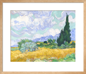 A Wheatfield, with Cypresses by Vincent Van Gogh