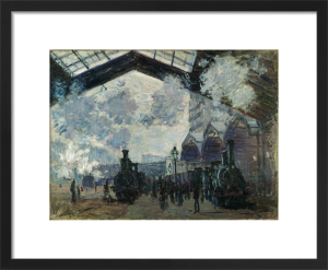 The Gare St-Lazare by Claude Monet