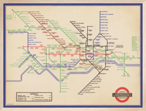 London Underground (Vintage 1936 Map) by H.C. Beck