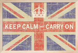 Keep Calm Flag Print by Ben James