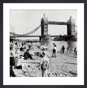 Londoners Relax on Tower Beach, 1952 by Henry Grant