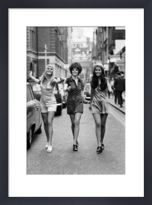Fashion models, London 1969 by Mirrorpix
