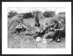 Farm holiday picnic, 1945 by Mirrorpix