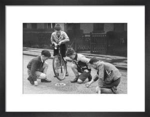 Playing marbles, 1947 by Mirrorpix