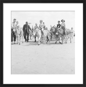 Donkeys on beach, Bognor 1959 by Mirrorpix
