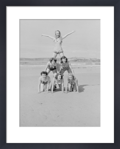 On the beach, Newquay 1952 by Mirrorpix