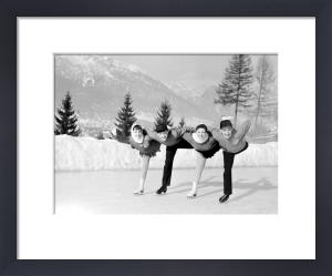 Skaters, Winter Olympics 1956 by Mirrorpix
