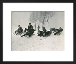 Children sledging, 1955 by Mirrorpix
