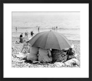 Beach umbrella, 1963 by Mirrorpix
