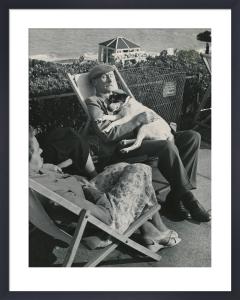 Seaside nap, 1950s by Mirrorpix