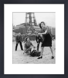 Beach cricket, Blackpool 1946 by Mirrorpix