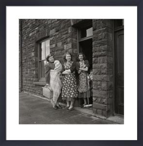 Women on doorstep, 1950s by Mirrorpix