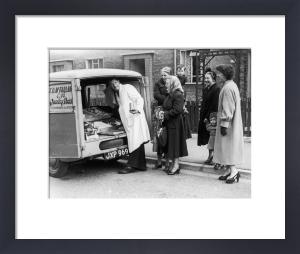 Mobile butchers shop, Glasgow 1955 by Mirrorpix